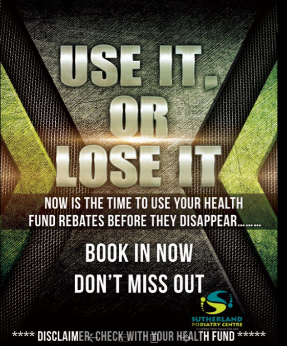 Use it or lose it | Sutherland Podiatry Centre